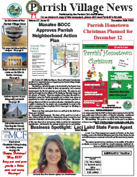 The most recent edition of the Parrish Village News